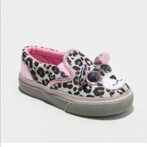 Jumparoos Toddler Girls' Leopard Slip On Sneakers